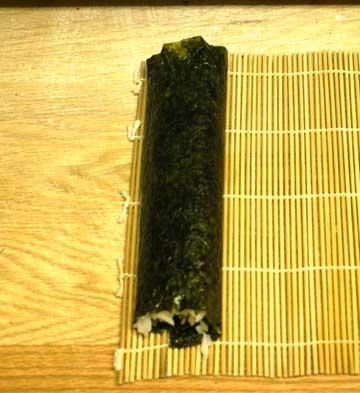 Unroll sushi mat