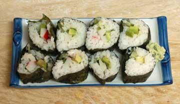 Arrange the rolls on a plate