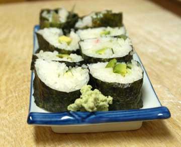 Sushi roll arrangement