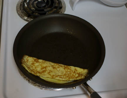 Egg in pan 3