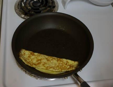 Egg in pan 3