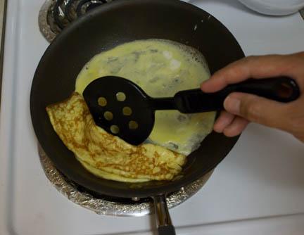 Egg in pan 7