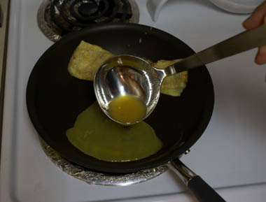 Egg in pan 6