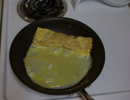 Egg in pan 8