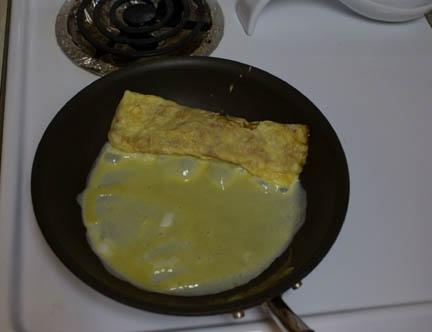 Egg in pan 8