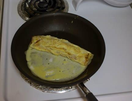 Egg in pan 9