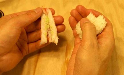 nigiri sushi add rice oval