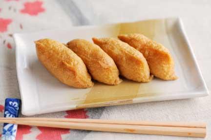 inari zushi on plate