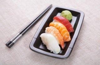 Artistic nigiri sushi